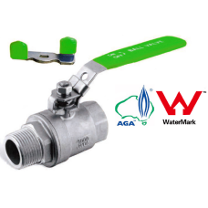 Stainless Steel Two Piece Ball Valve 1000psi BSP MF