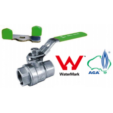 Stainless Steel Two Piece Ball Valve 1000psi BSP/NPT