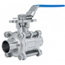 Stainless Steel Hygienic 3pc Ball Valve ButtWeld