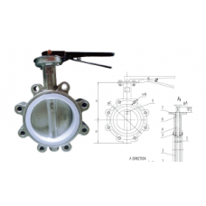 Stainless Steel Butterfly Valve Lugged