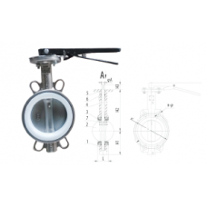 Stainless Steel Butterfly Valve Wafer