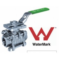 Stainless Steel Three Piece Ball Valve with Mounting Pad