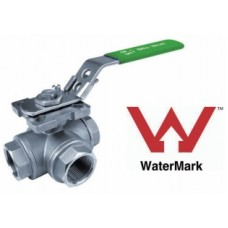 Stainless Steel Three Way Ball Valve BSP T Type