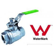 Stainless Steel Two Piece Ball Valve 1000psi VENTED
